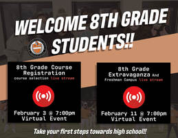 MCHS announces virtual events in February for current 8th-graders